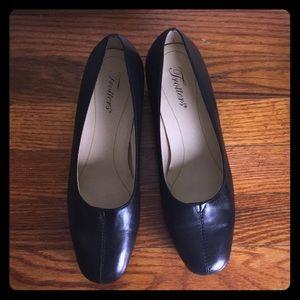 "Classic 1"" black heels"